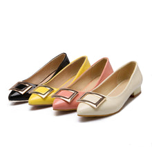 Patent Leather Pointed Toe Flat Slip-on Shoes
