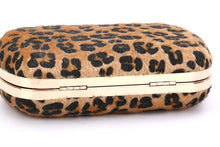 Bow Detailed Leopard Printed Pattern Ladies Evening Bags