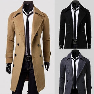 Men's Oversize Coat Double Breasted Winter Outerwear