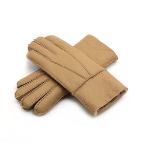 Solid Color Synthetic Leather Windproof Women's Gloves