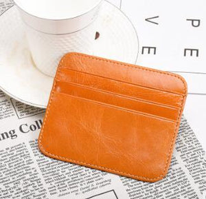 Light And Small Card Bag Hand-Made Vintage Hip Leather Simple RFID Short Style Zero Wallet Credit Card Bag