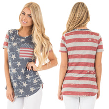 New Arrival American Independence Day Pattern Printed T-shirts for Women