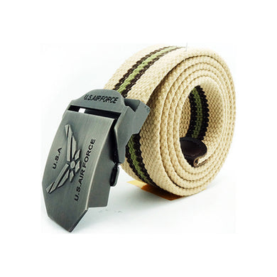 Fashion Outdoor Canvas Woven Belt Thick Men's Belt