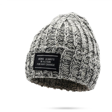 Plus Thickening  Outdoor Warm Knitted Wool Youth Hat