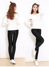 Thickened Warm Keeping Luster Lines Elastic Women's Leggings