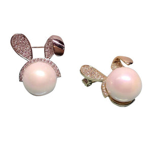 Cute Rabbit Shape Pearl Zircon Sweater Clips (1 pcs)