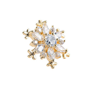 Snow Flakes Shape Zircon Sweater Clips (1 pcs)