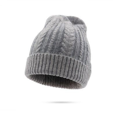 Women Rabbit Wool Autumn and Winter Thickening Warm Knitted Hat