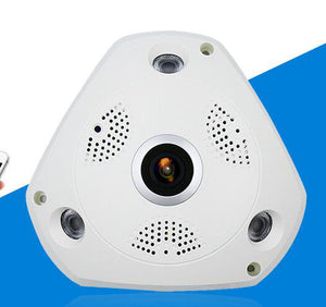 Panoramic Camera 360-Degree V380 UFO Surveillance Infrared Large Triangle Camera High-Definition Night Vision