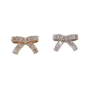 Bowtie Shape Zircon Sweater Clips (1 pcs)