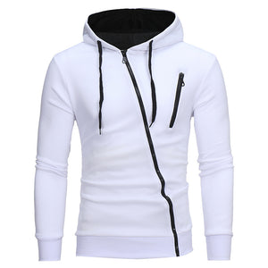 Men's Fashion Long Sleeves Autumn Zip Up Hoodies Shirts