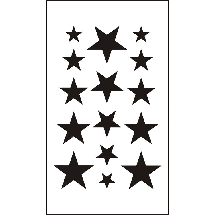 Multiple Sizes of Stars Temporary Tattoos Stickers (1 sheet)