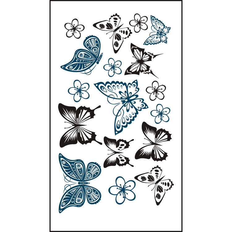 Body Art Stickers Butterflies Stickers Removable Waterproof Temporary Tattoos  (1 sheet)