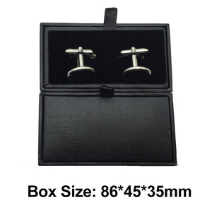 Golden Color Plated Rhinestone Decorated Cuff Links