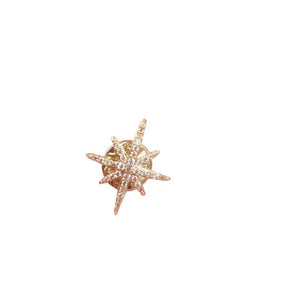 Asterisk Zircon Sweater Clips (1 pcs)