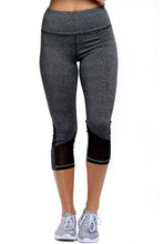 Black Patch Mesh Accent Black Active Capri Leggings