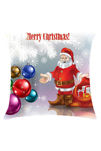 Cheap Father Christmas and Baubles Printed Decorative Pillow Case