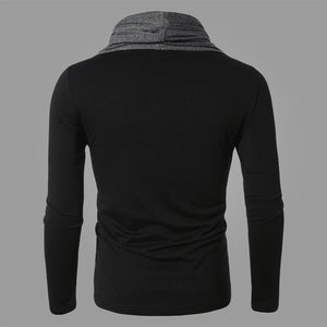 Inclined Knit Base Slim Long-sleeved Sweater for Men