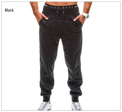 Solid Color Slimline Joggers Athletic Pants for Men