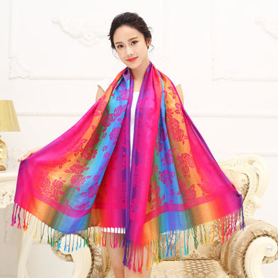 Spring And Autumn Artificial Cotton Feel Thickly Wind Scarf Female Summer Air Conditioning Cape