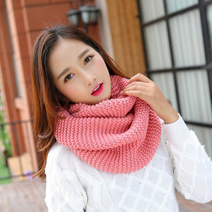 Autumn Winter Extended Woollen Thread Scarf Men And Women General Knitting Thickening Scarf