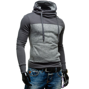 Splicing Turtle Neck Slim Hoodies for Men
