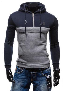 Splicing Slim Casual Hoodies for Men