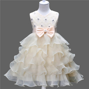 New Lace Dress Summer Multi-Layer Girl Princess Dress