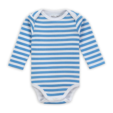Baby's Long-sleeved Blue Stripes Onesies