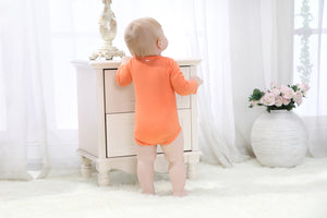 Baby's Orange Cartoon Car onesies