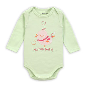 "Light Green Pretty Bird Baby""s Onesies"