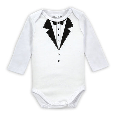 Little Gentlemen Bowtie Detailed Onesies for Baby