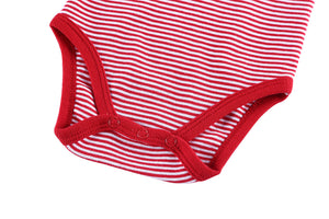 Basic Red Stripes Cotton Onesies for Baby
