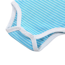 Blue Stripes Short Sleeves Onesies for Baby