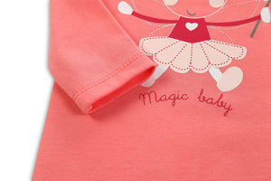 Cute Fairy Pink Long-sleeved Onesies for Baby