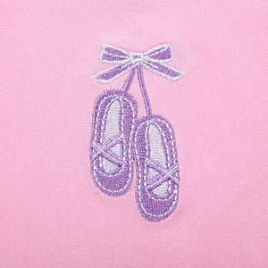Pink Bow Shoes Pattern Onesies for Baby