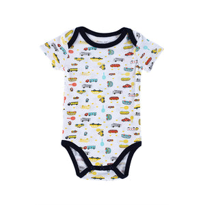 Short Sleeves 3-pack Baby's Summer Rompers