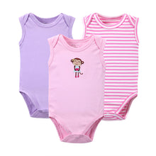 Cotton Long Sleeves 3-pack Baby's Summer Rompers