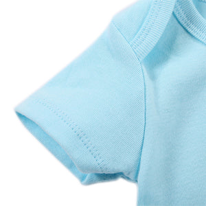 Blue Short-sleeved Cotton Rompers 3 -pack for Baby