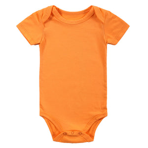 Solid Color Cartoon Cotton Onesies 3pcs for Baby