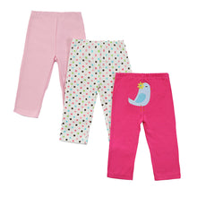 Baby Girls Pants Cotton Long Pants 3 Pack