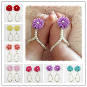 European And American Popular Baby Pearl Shoes Wholesale Taobao Sell Off Baby Shoes Baby Foot Chain