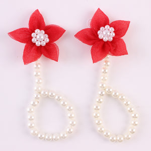Sell Baby Pearl Shoe Flower A Pearl Foot Jewelry Manufacturers Direct Baby Feet Ring