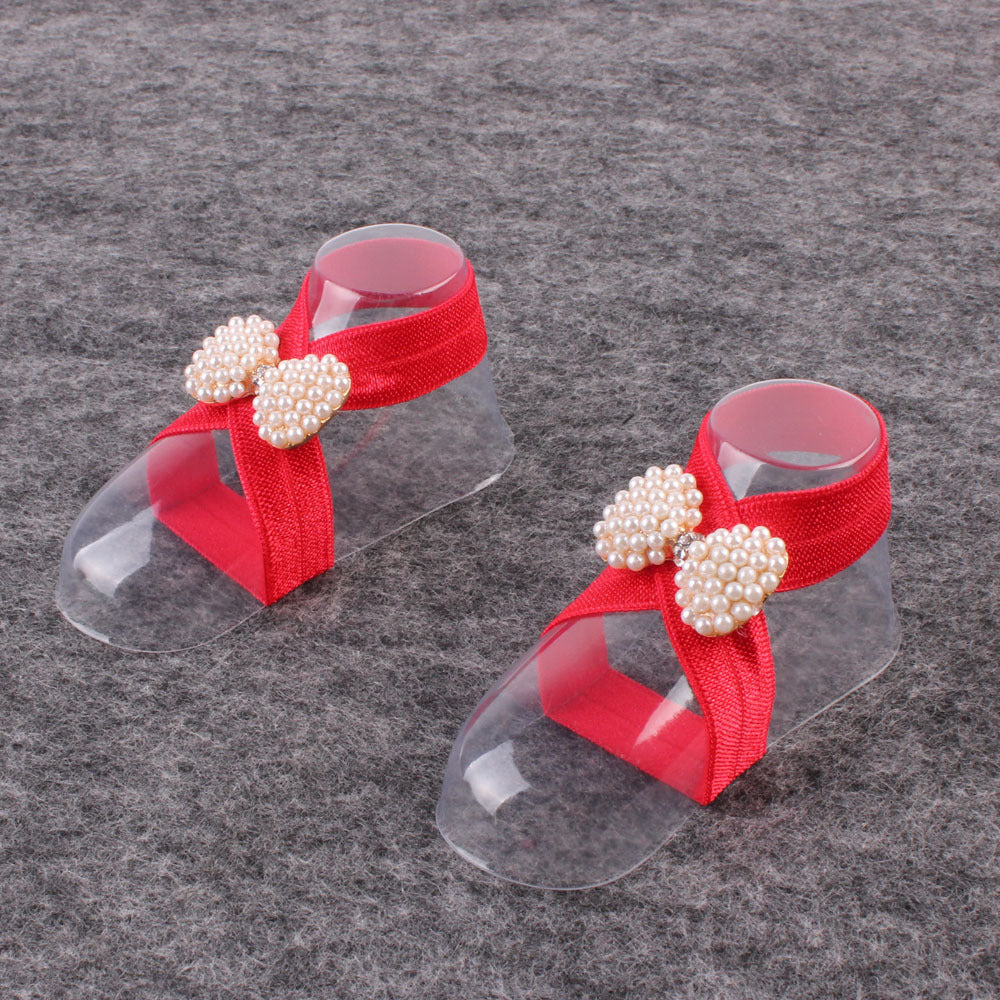 New Baby European And American Pearl Bow Tie Foot Decoration Foreign Trade Hot Sale Baby Shoe Foot Ring