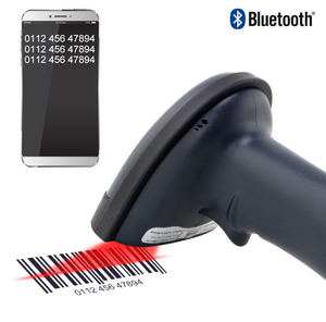 Handheld Wireless Bluetooth Barcode Scanner Portable Laser 1D Bar Code Reader for Android and ios iphone