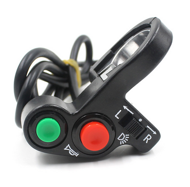 WUPP Multifunction Motorcycle Handlebar Motorcycle Switch ON-OFF Button LED Headlight Scooter Switch