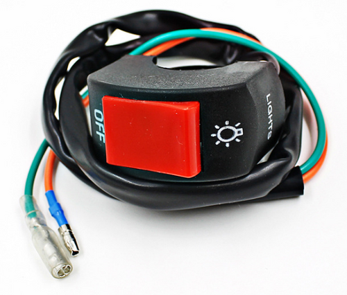 DCMotorcycle Electric Bike/Scooter Light Turn Signal & Horn Switch ON / OFF Green + Red Button Headlight Control