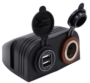 WUPP Waterproof USB Vehicle DC 12-24V Dual Aperture USB Car Cigarette Lighter Socket Splitter 12V USB 4.2A Power Adapter Charger