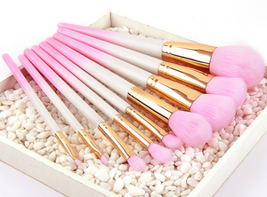 9pcs Pink Gradient Make Up Brushes Set High Quality Beauty Foundation Powder Blush Cosmetic Tools Kit Pencil Maquiagem