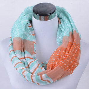 Stripes Pattern Voile Women's Scarf